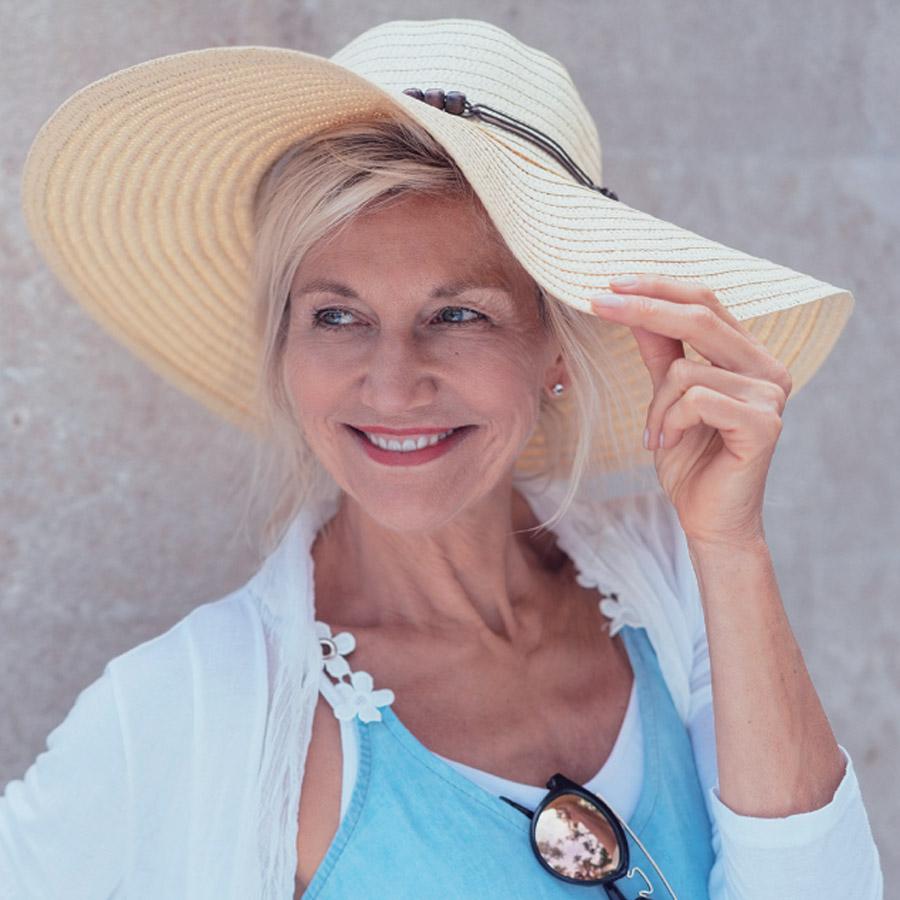 Senior Woman in Sun Hat